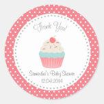 Cupcake Baby Shower Thank You Sticker