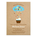 "Cupcake Baby Sprinkle Baby Shower Invitation 5"" X 7"" Invitation Card"