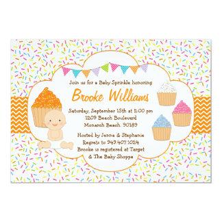 Cupcake Baby Sprinkle Shower Invitation Neutral