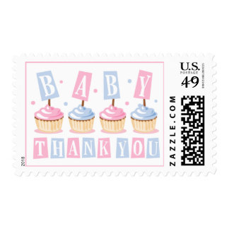 Cupcake Baby Thank You Stamp