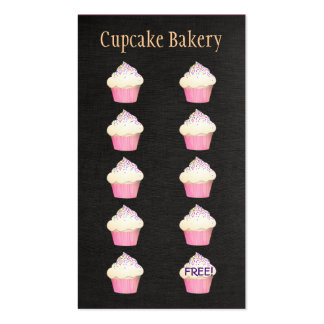 Cupcake Baker Bakery Customer Loyalty Punch Business Card