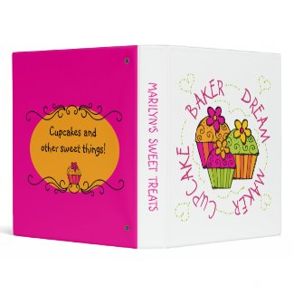 Cupcake Baker Dream Maker Recipe Binder binder