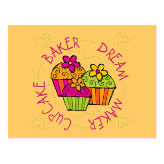Cupcake Baker Dream Maker T-shirts and Gifts Postcard