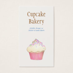 Cupcake Bakery  Business Card at Zazzle
