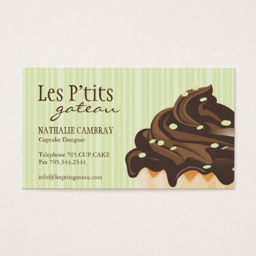Professional Business Cupcake Bakery Business Card