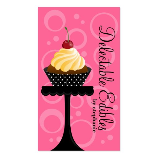 Cupcake Bakery Business Cards (front side)
