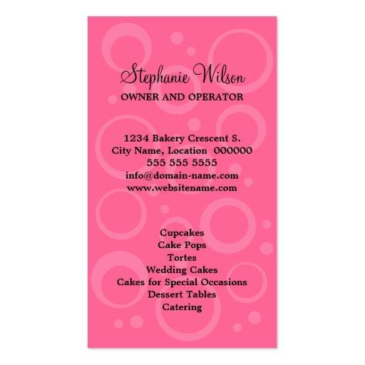 Cupcake Bakery Business Cards (back side)
