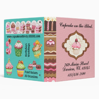 Cupcake Bakery / Caterer Binder - SRF