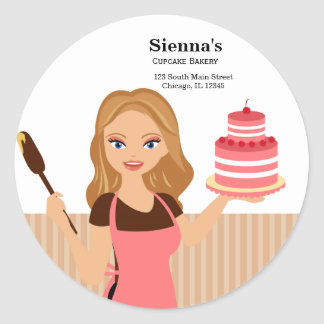 Cupcake Bakery Classic Round Sticker