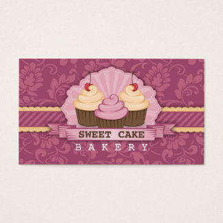 Cupcake Bakery Cute Business Card