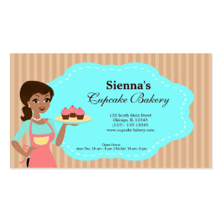 Cupcake Bakery Double-Sided Standard Business Cards (Pack Of 100)