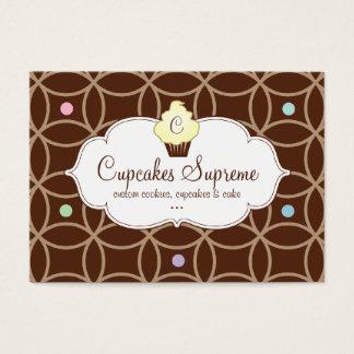 Cupcake Bakery Gift Certificate Stripes Yellow