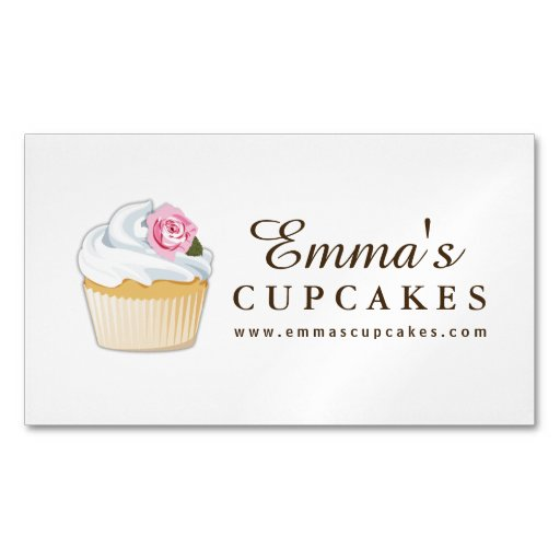 Cupcake Bakery Magnetic Business Card