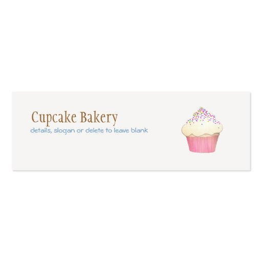 Cupcake bakery mini business card zazzle for Mini business card