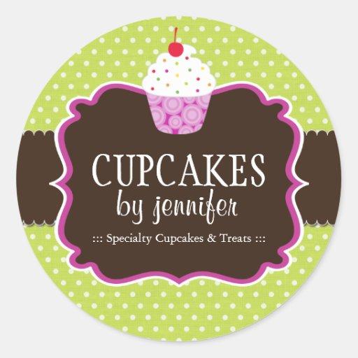 Cupcake Bakery Packaging Stickers