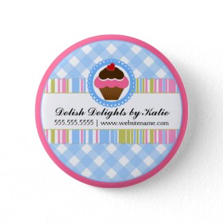 Cupcake   Bakery Personalized Button button