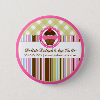 Cupcake Bakery Personalized Button