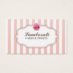 Cupcake Bakery Pink  Cute Elegant Modern Business Card at Zazzle