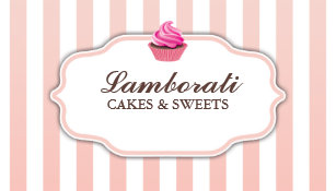 Bakery business cards 5200 bakery business card templates cupcake bakery pink cute elegant modern business card reheart Images