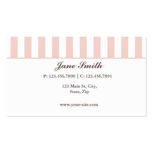 Cupcake Bakery Pink  Cute Elegant Modern Business Card Template (back side)