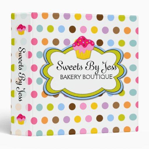 Cupcake Bakery Portfolio  Binder