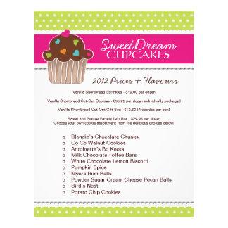 Cupcake Bakery Price List Flyer