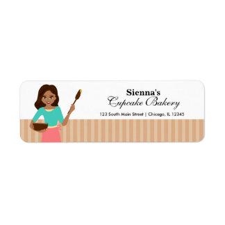 Cupcake Bakery Return Address Label