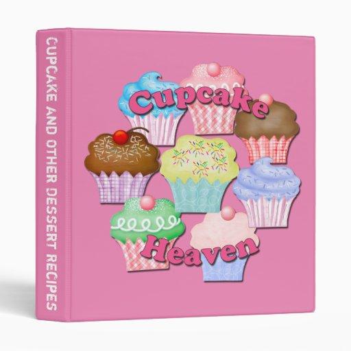 Binder Cookbook Cover ~ Cupcake baking cookbook covers binder recipes zazzle