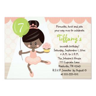 Cupcake Ballerina Birthday Invitation African Amer