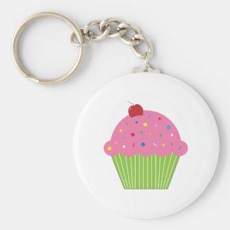 Cupcake Basic Round Button Keychain