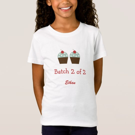 Cupcake Batches Twins Shirt - Blue