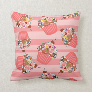 Cupcake Beads Throw Pillows