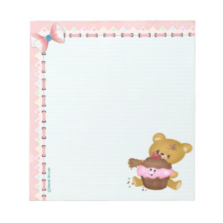 Cupcake Bear Custom Notepad