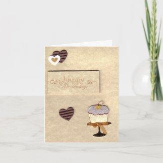 Cupcake Birthday Card card