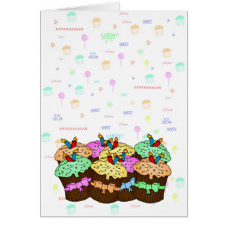 Cupcake Birthday Card - Sweet Birthday - Cupcake
