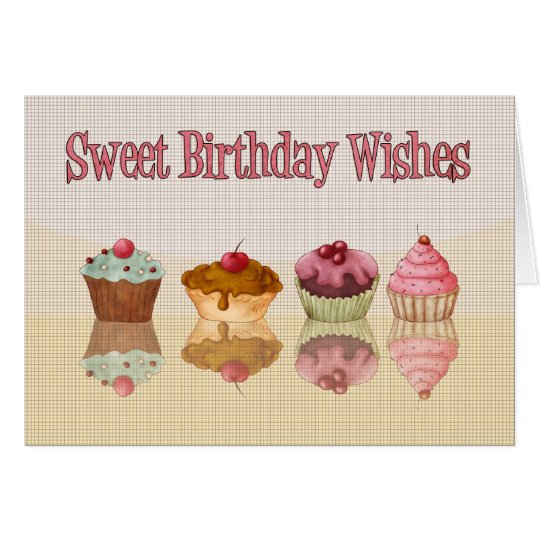 Cupcake birthday card sweet birthday wishes zazzle cupcake birthday card sweet birthday wishes bookmarktalkfo Choice Image