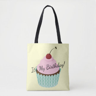 Cupcake, Birthday Cupcake Frosted Cupcakes Tote Bag