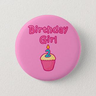 Cupcake Birthday Girl 2 Pinback Button