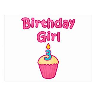 Cupcake Birthday Girl 3 Postcards