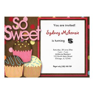 Cupcake Birthday Custom Invite