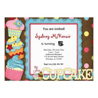 Cupcake Birthday Invites