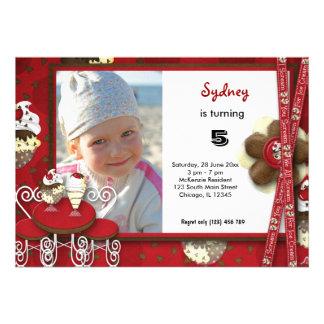 Cupcake Birthday Personalized Invite