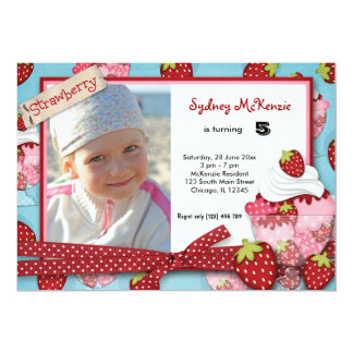 Cupcake Birthday 5x7 Paper Invitation Card