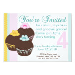 Cupcake Birthday Party Custom Invitation
