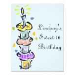Cupcake Birthday Party Custom Invite