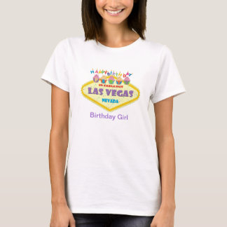 CUPCAKE BIRTHDAY PARTY IN LAS VEGAS CARD Bday Girl T-Shirt