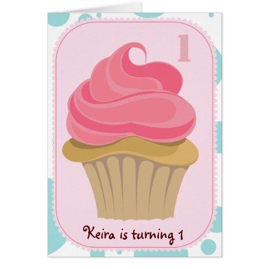 Cupcake Birthday Party Invite