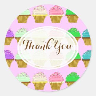 Cupcake Birthday Party Thank You Sticker