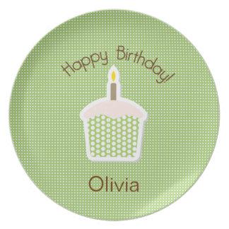 Cupcake Birthday Plate