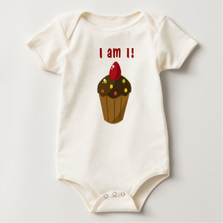 Cupcake Birthday Shirt! Baby Bodysuit